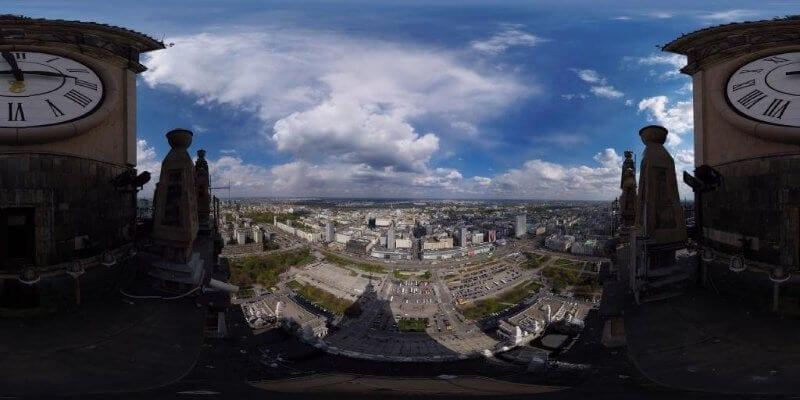 Film 360 z Pałacu Kultury i Nauki
